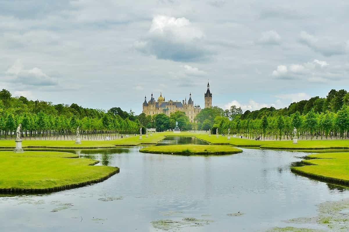 Blick auf das Schloss Schwerin