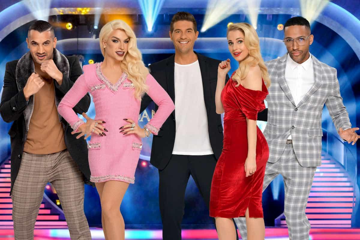 Dancing Stars 2020 - Erste Promi-Kandidaten Marcos Nader, Tamara Mascara, Norbert Oberhauser, Silvia Schneider, Cesar Sampson