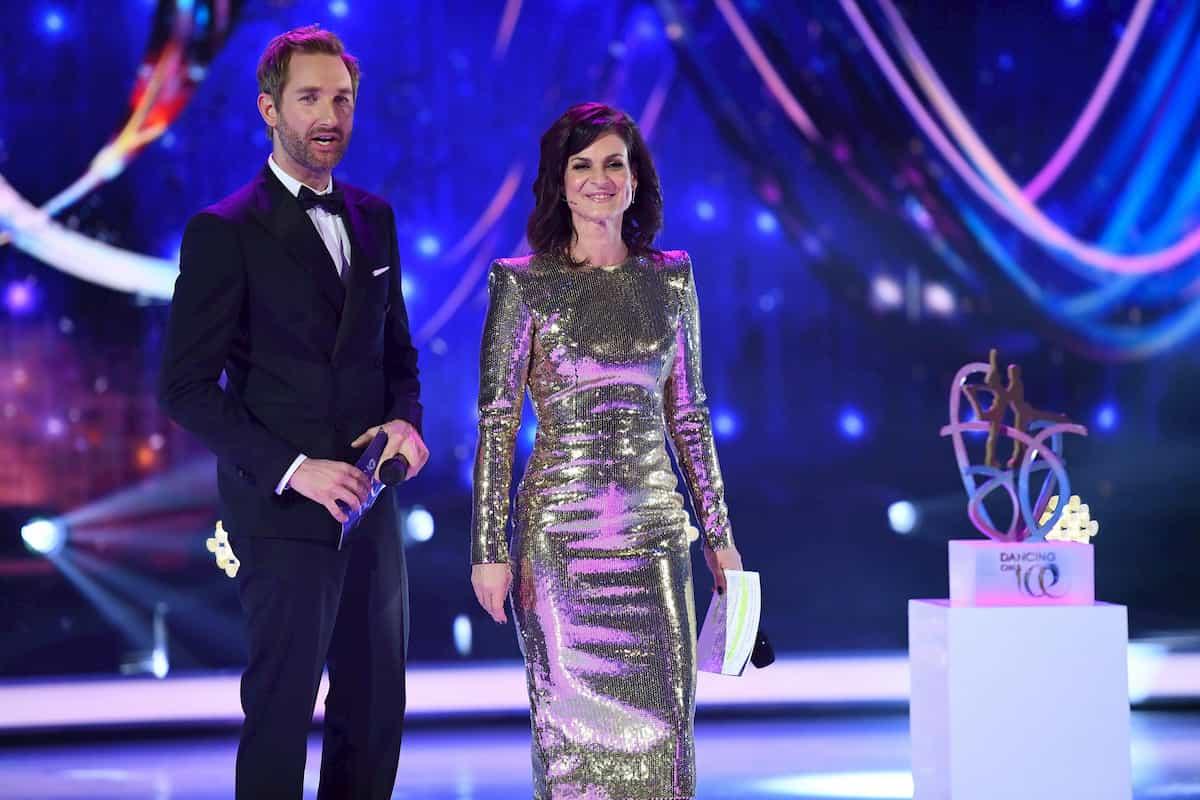 Daniel Boschmann und Marlene Lufen - Moderatoren im Finale Dancing on Ice am 20.12.2019