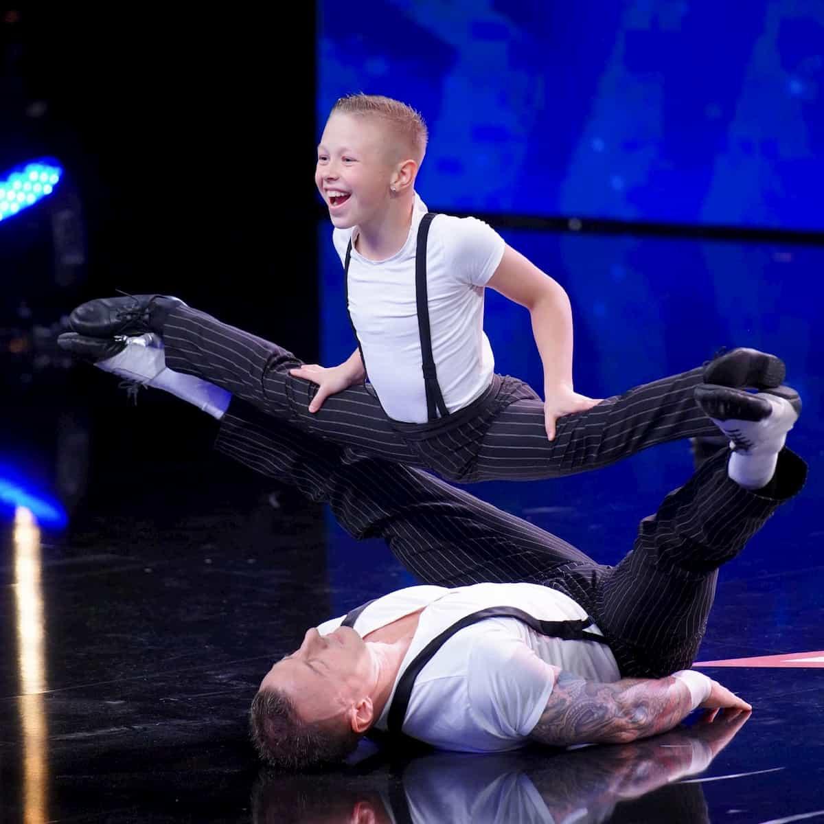 Danylo Strakhov und sein Sohn Oscar - Kandidaten beim Supertalent am 14.12.2019