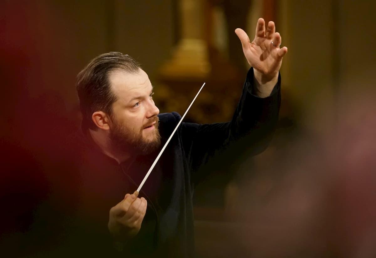 Dirigent des Neujahrskonzertes der Wiener Philharmoniker 2020 Andris Nelsons bei der Generalprobe