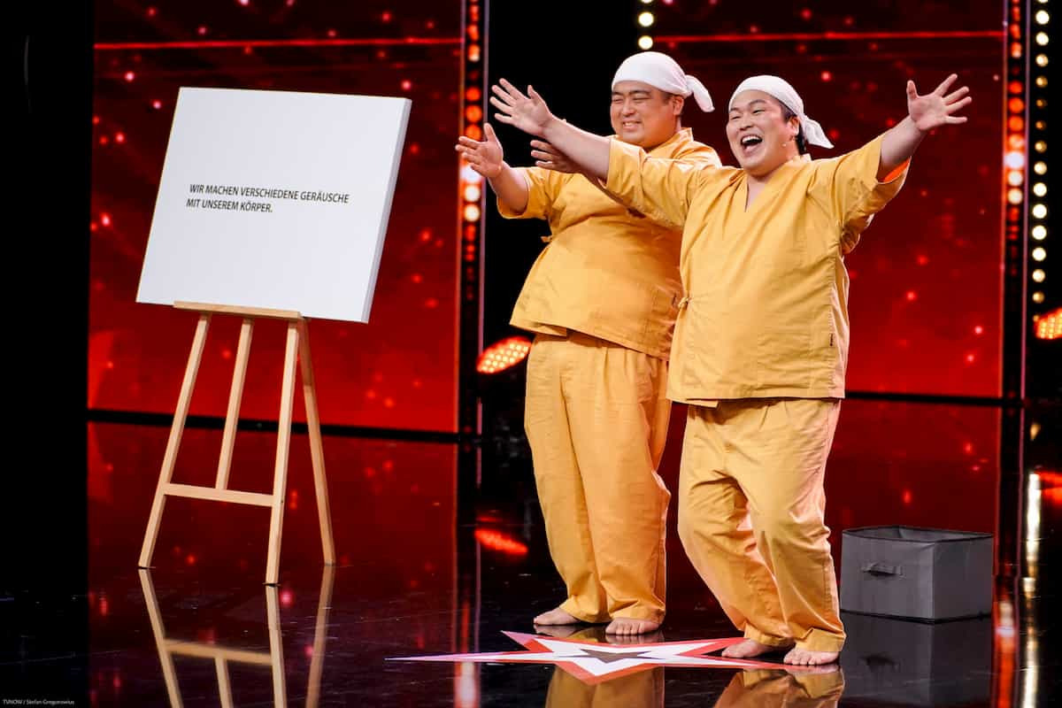 Duo Yumbo Dump im Finale Supertalent am 21.12.2019
