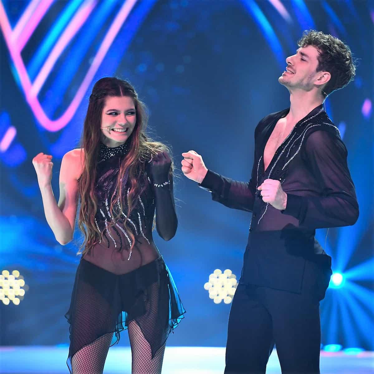 Klaudia mit K und Sevan Lerche bei Dancing on Ice 2019