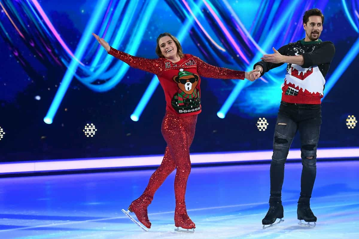 Nadine Angerer - David Vincour bei Dancing on Ice am 6.12.2019