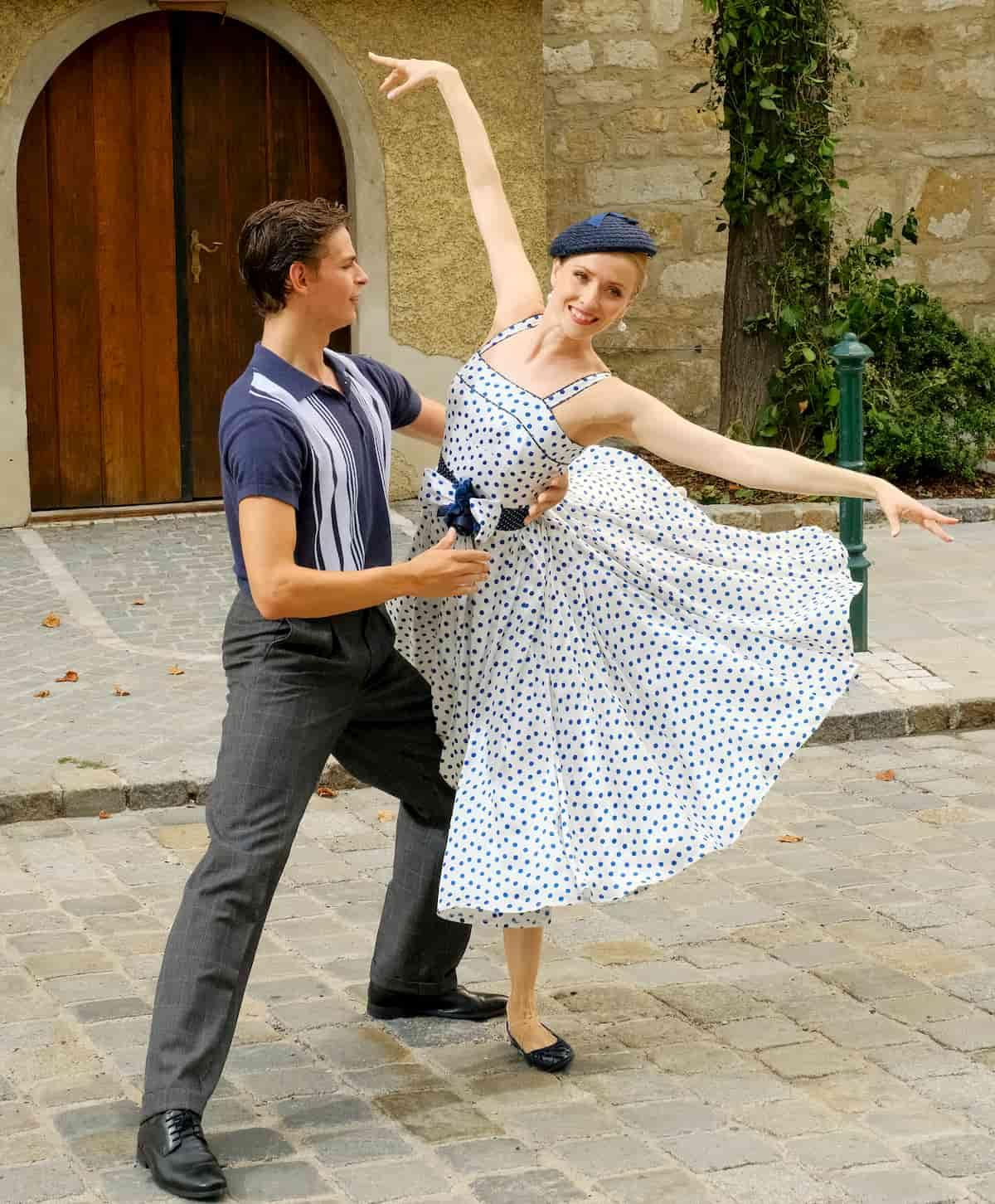 Olga Esina und Jakob Feyferlik als Tänzer beim Ballett zum Neujahrskonzert der Wiener Philharmoniker 2020