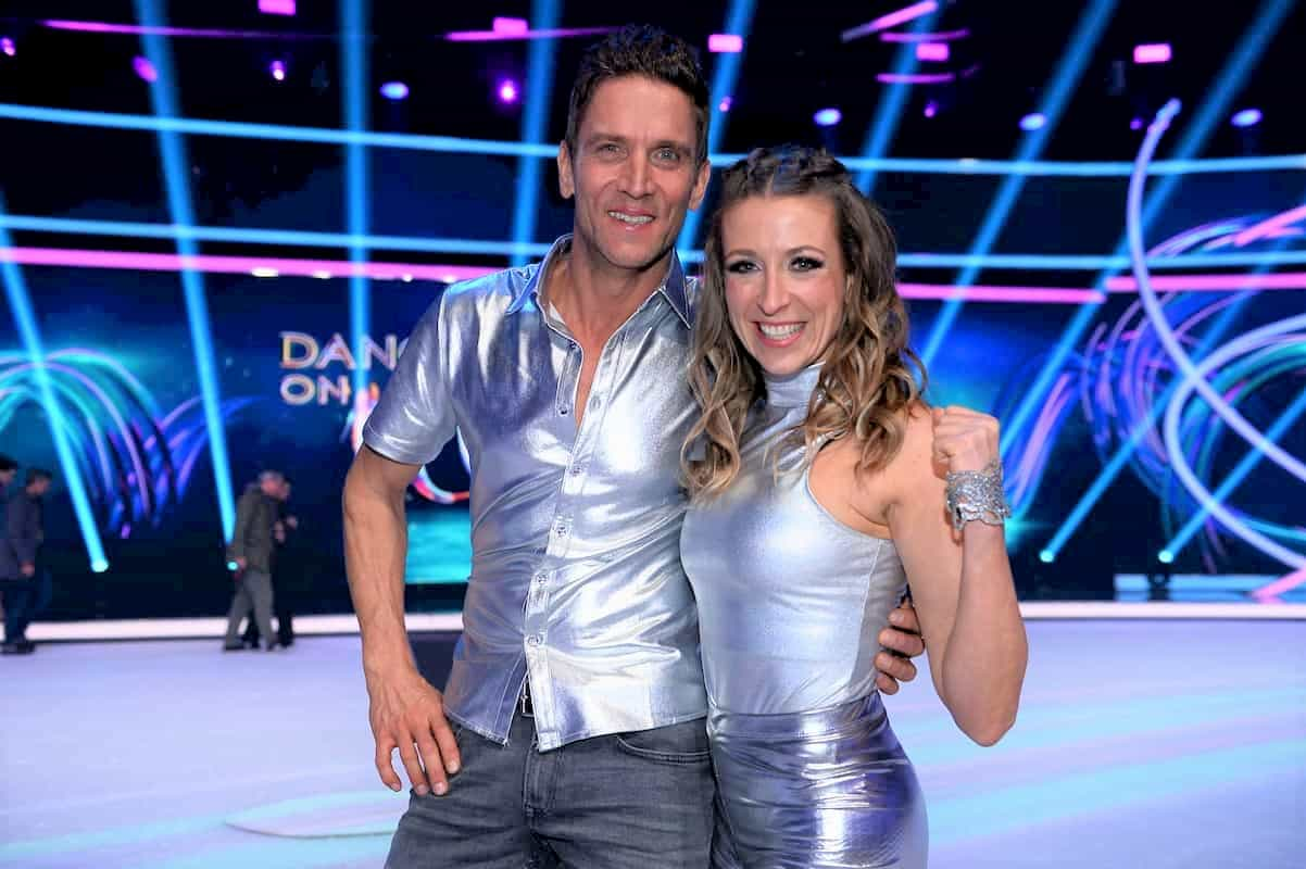Peer Kusmagk und Kat Rybkowski bei Dancing on Ice 2019