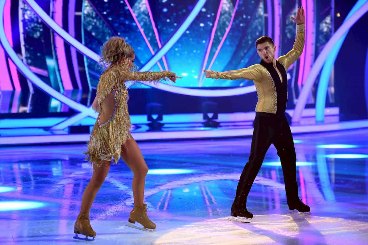 Ramona Elsener und Joey Heindle in ihrer 1. Kür Finale Dancing on Ice am 20.12.2019