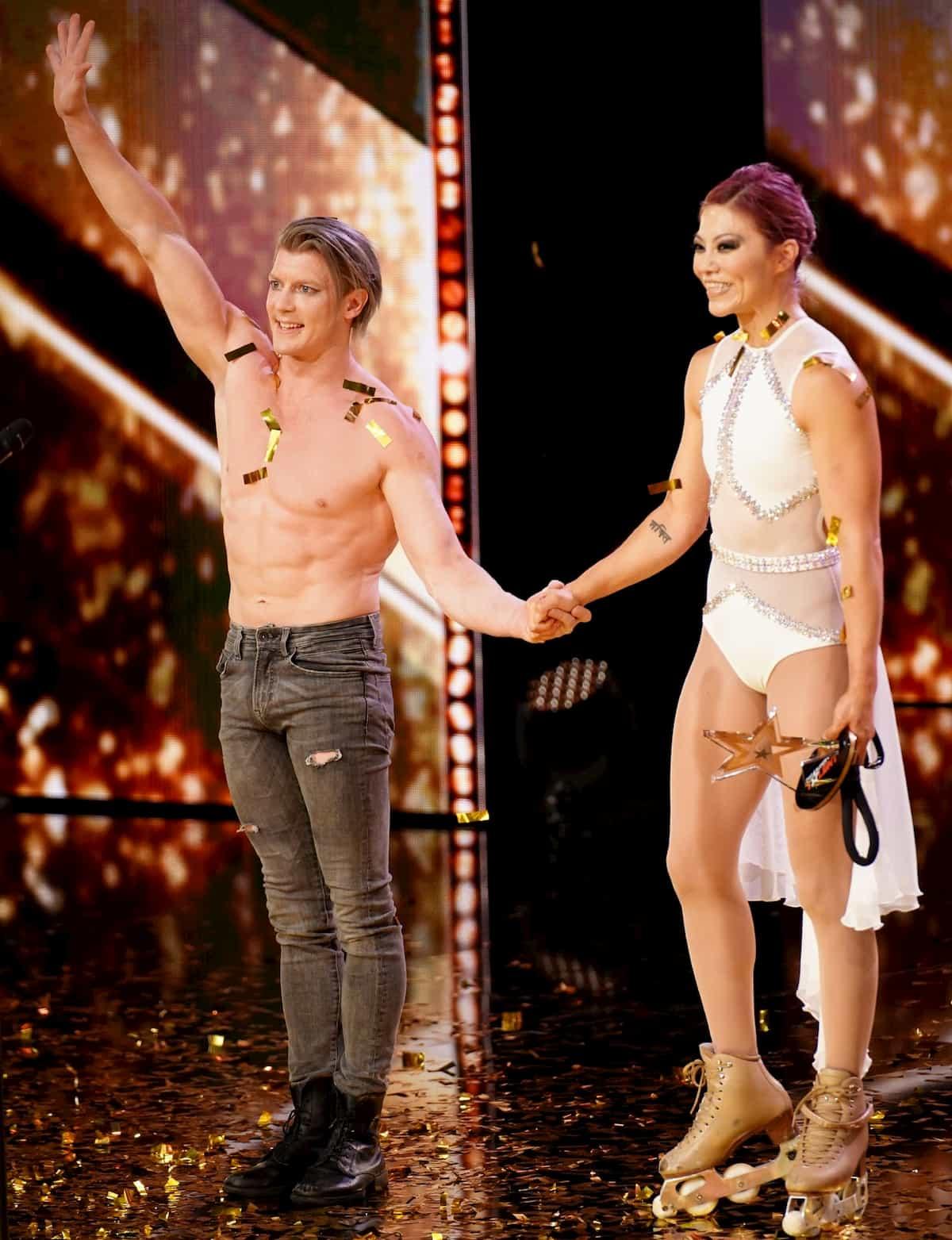 Stuart McKenzie und Angela Kim im Finale Supertalent am 21.12.2019