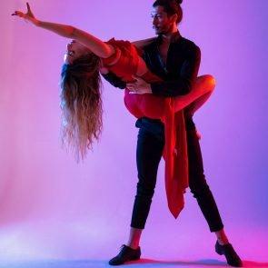 Tanzpaar beim Training