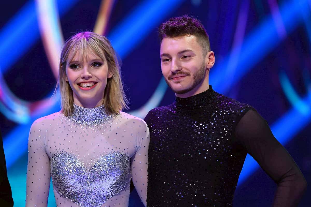 Weiter im Skate off bei Dancing on Ice am 13.12.2019 Lina Larissa Strahl - Joti Polizoakis