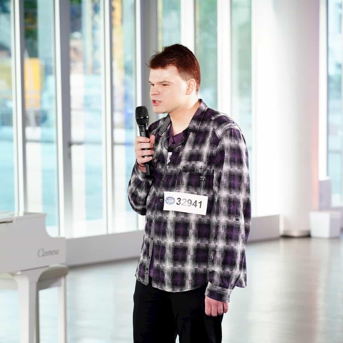 Amadeus Soszka bei DSDS am 28.1.2020 als Kandidat