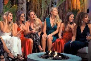 Bachelor 2020 am 8.1.2020 - 1. Sendung der neuen Staffel - hier im Bild die Kandidatinnen Jenny T, Laureen, Jessi, Michele, Isabelle und Linda