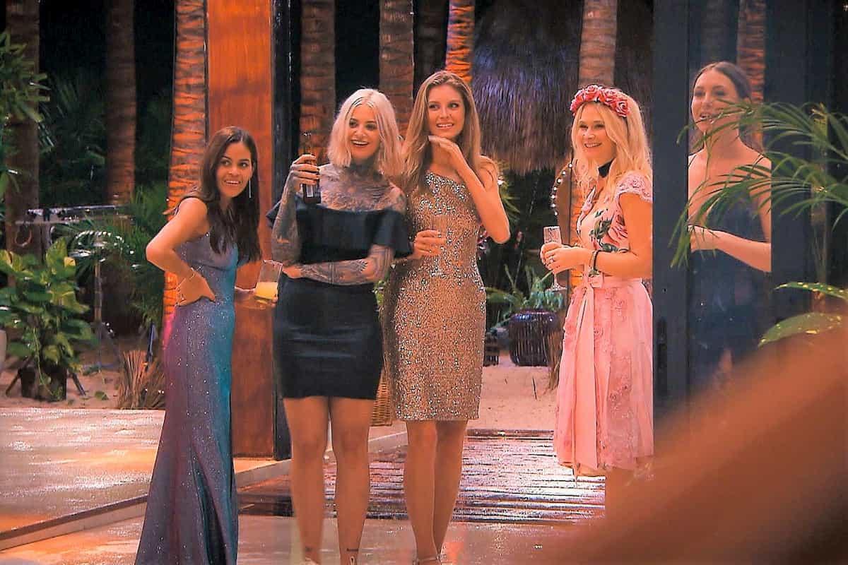 Desiree, Jenny, Wioleta, Denise-Jessica, Jenny Jasmin beim Bachelor am 8.1.2020
