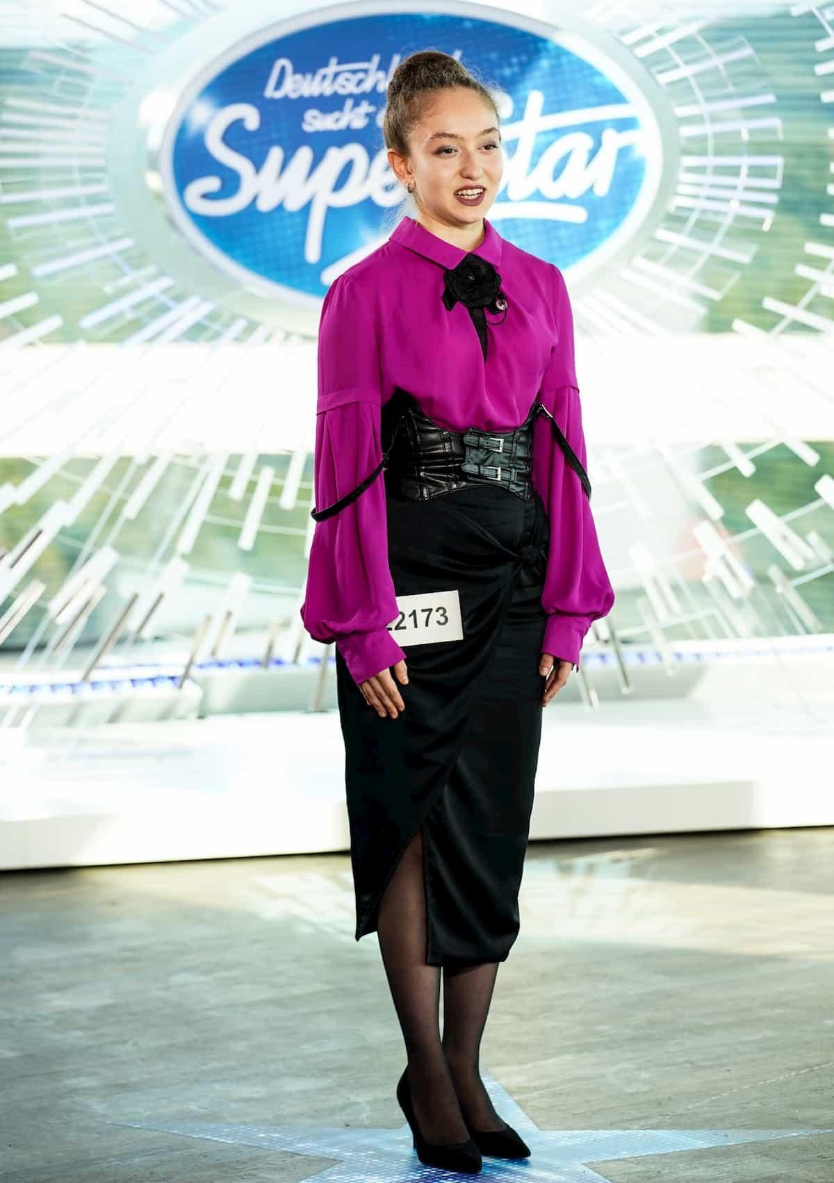 Elena Abdullaeva bei DSDS am 25.1.2020 als Kandidatin