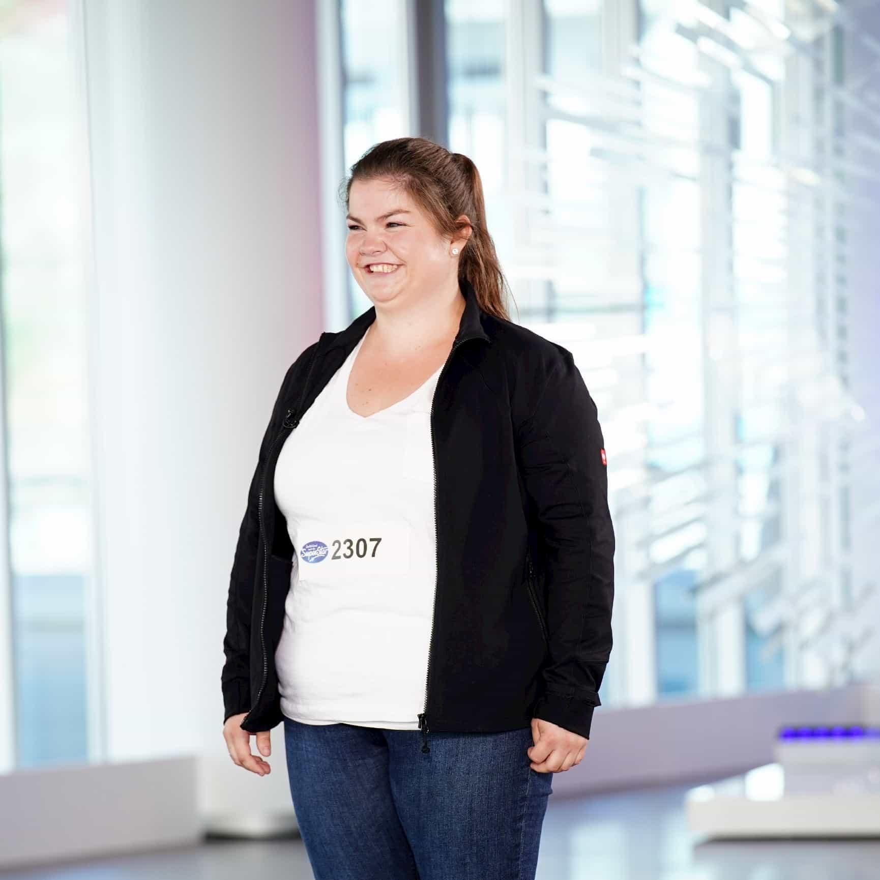 Janina Mödden bei DSDS am 28.1.2020 als Kandidatin