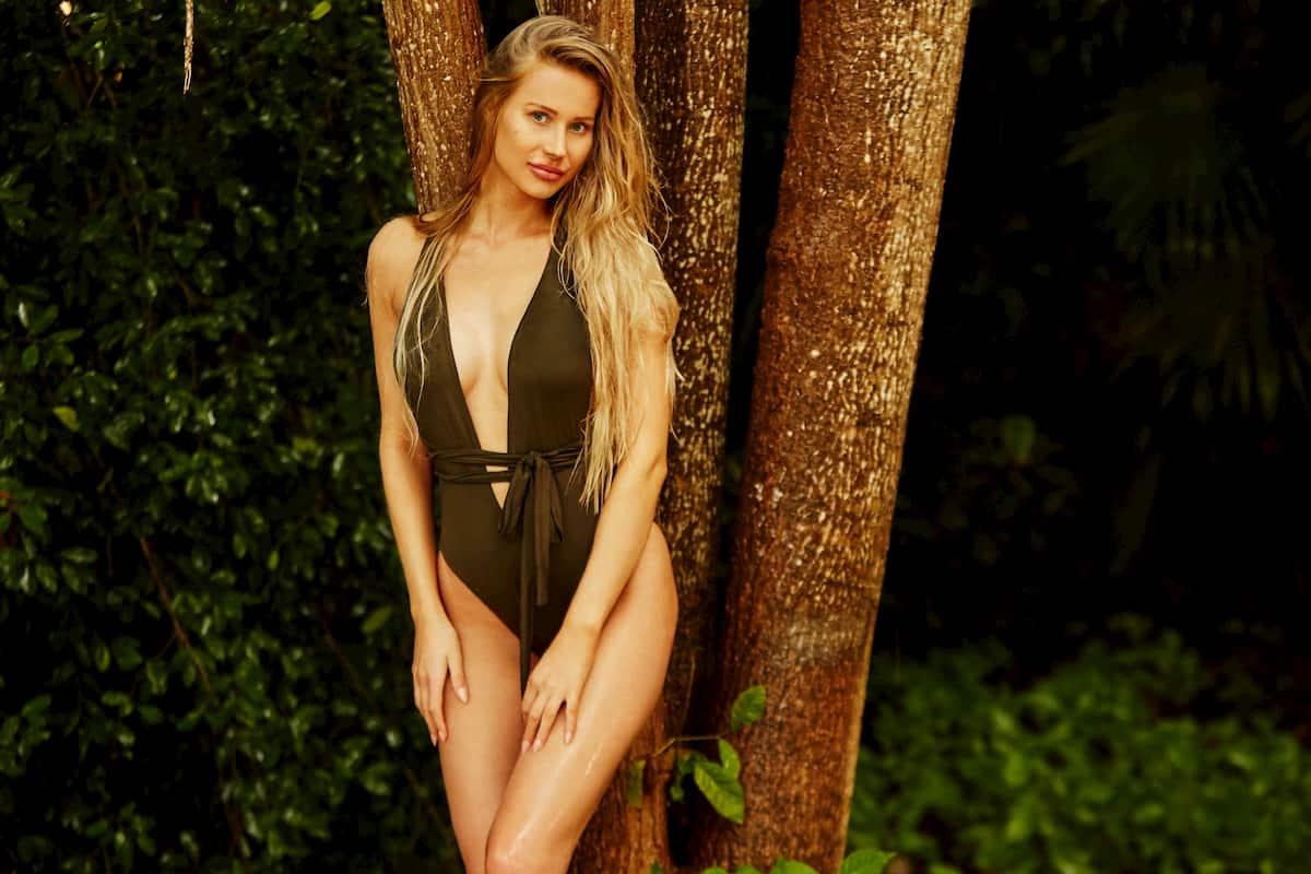 Leah Marie im Badeanzug als Bachelor-Kandidatin 2020