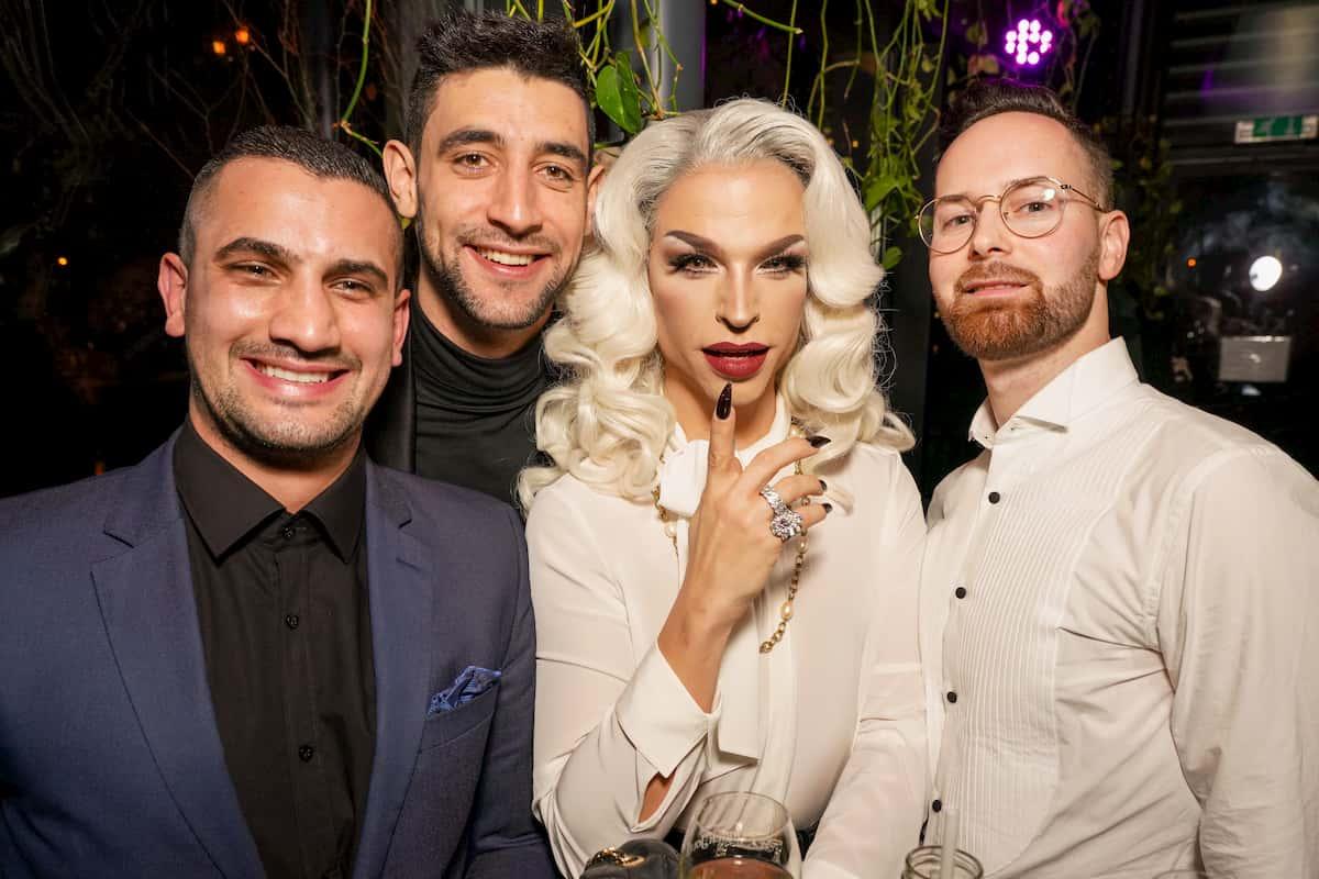 Marcos Nader, Dimitar Stefanin, Tamara Mascara und Florian Vana beim Kennenlernen der Dancing Stars 2020