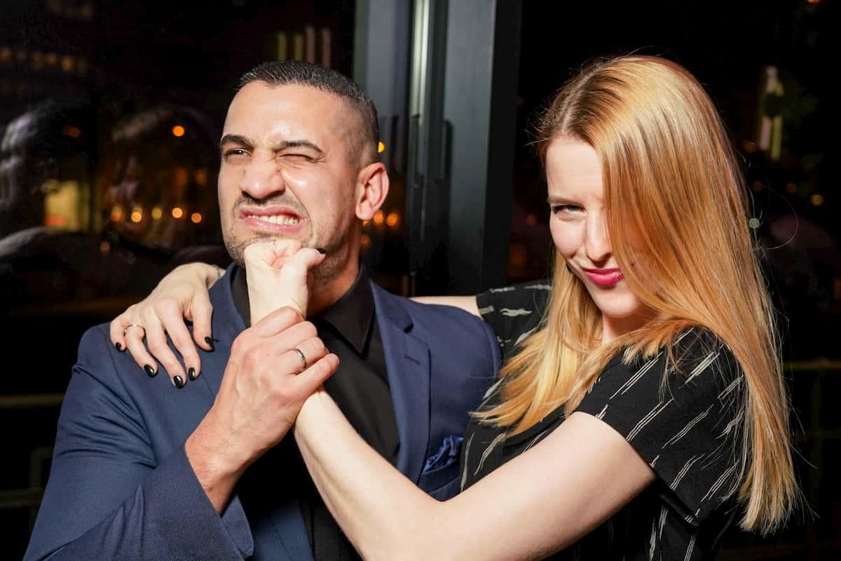 Marcos Nader und Catharina Malek beim Kennenlernen der Dancing Stars 2020