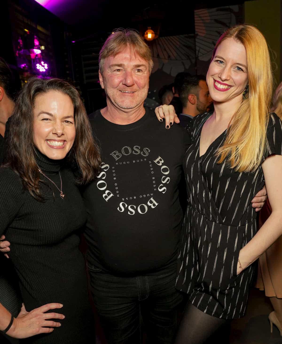 Roswitha Wieland, Andreas Ogris und Catharina Malek beim Kennenlernen der Dancing Stars 2020