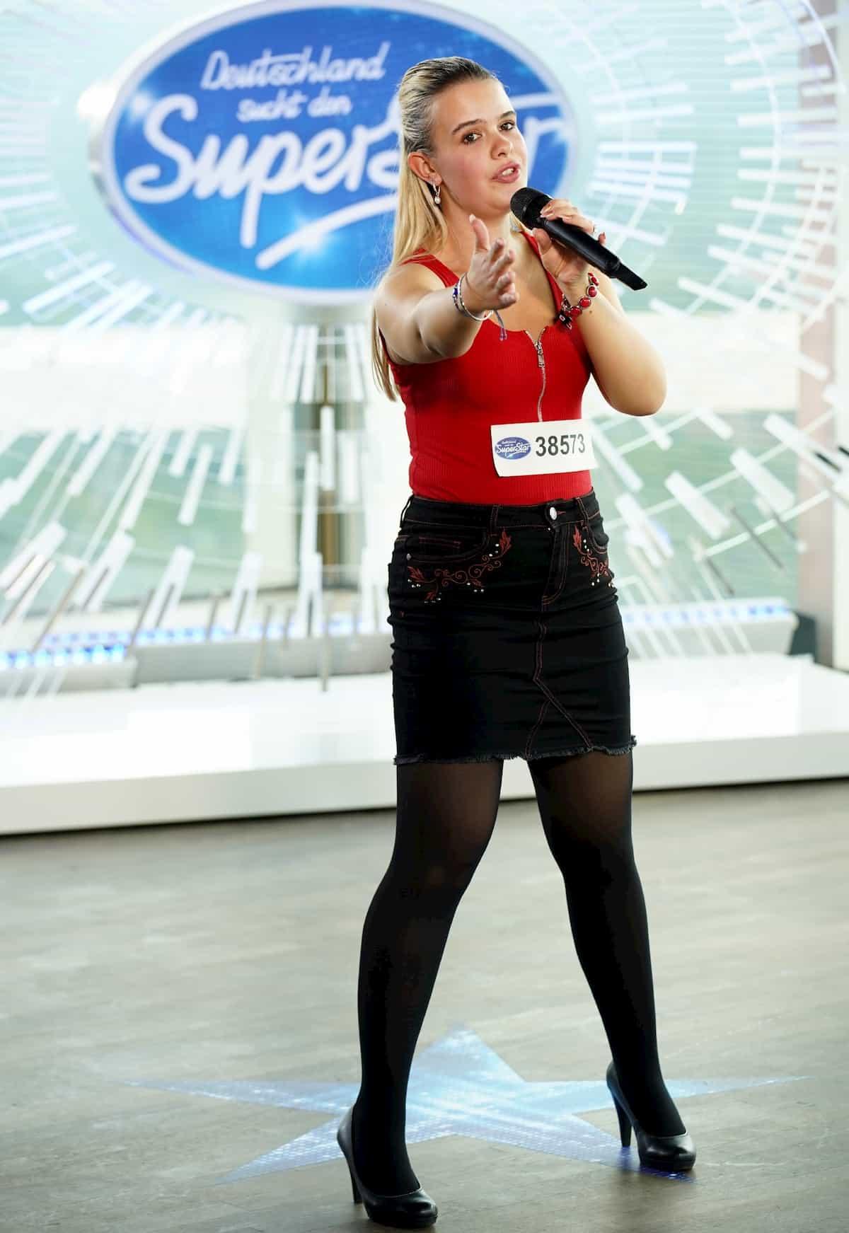 Sarah Rosemann bei DSDS am 21.1.2020 als Kandidatin