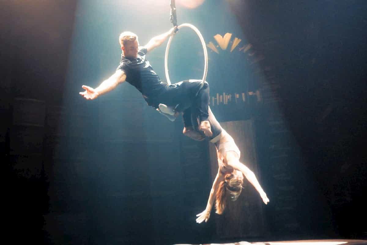 Sebastian und Diana beim Cirque de Soleil beim Bachelor am 22.1.2020