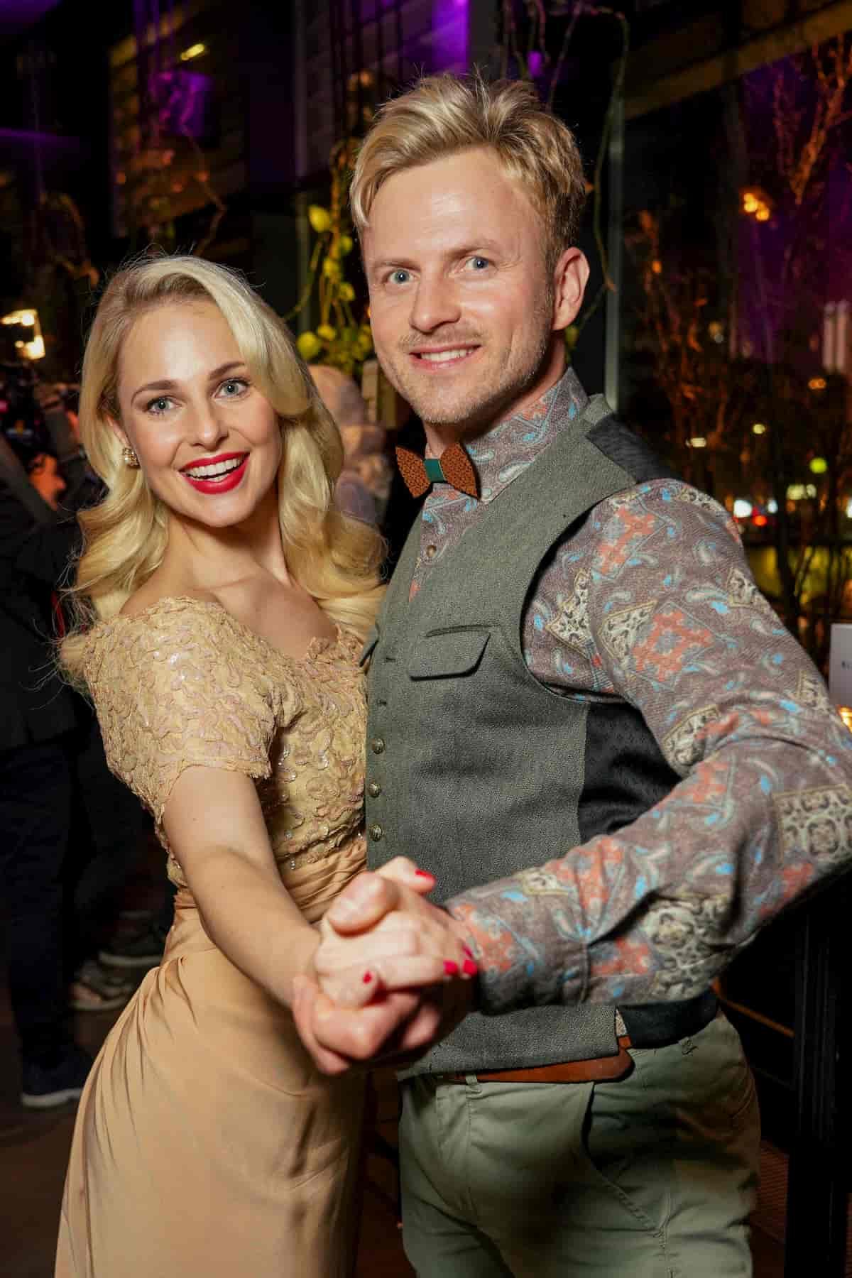 Silvia Schneider und Willi Gabalier beim Kennenlernen der Dancing Stars 2020