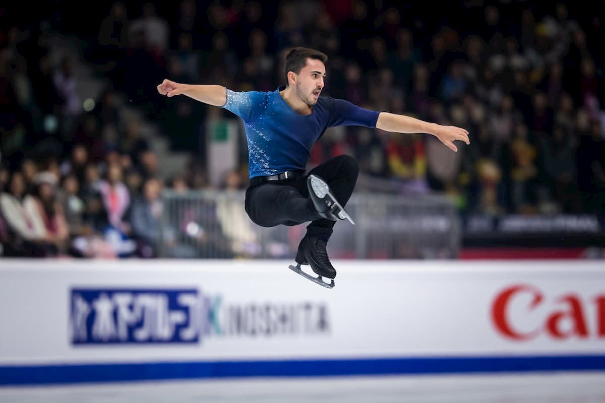 TV-Übertragungen Eiskunstlauf-EM 2020 in Graz 22.-26.1.2020 - hier im Bild Kevin Aymoz
