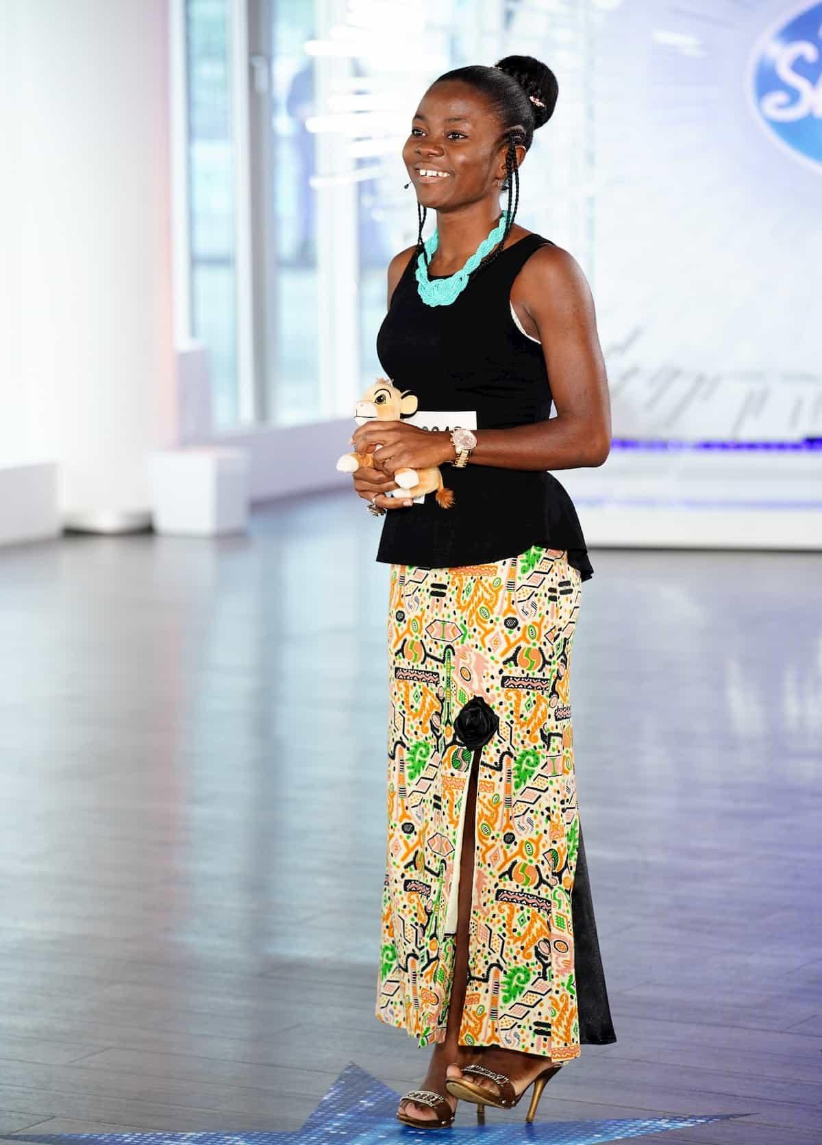 Adele Tankwa Nchoutnsu bei DSDS am 1.2.2020 als Kandidatin