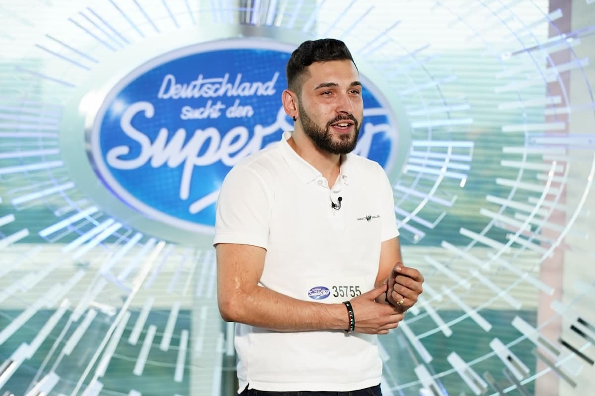 Alessandro Fraccica bei DSDS am 11.2.2020 als Kandidat