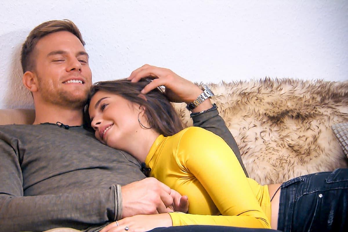 Diana und Sebastian beim Home-Date Bachelor am 19.2.2020