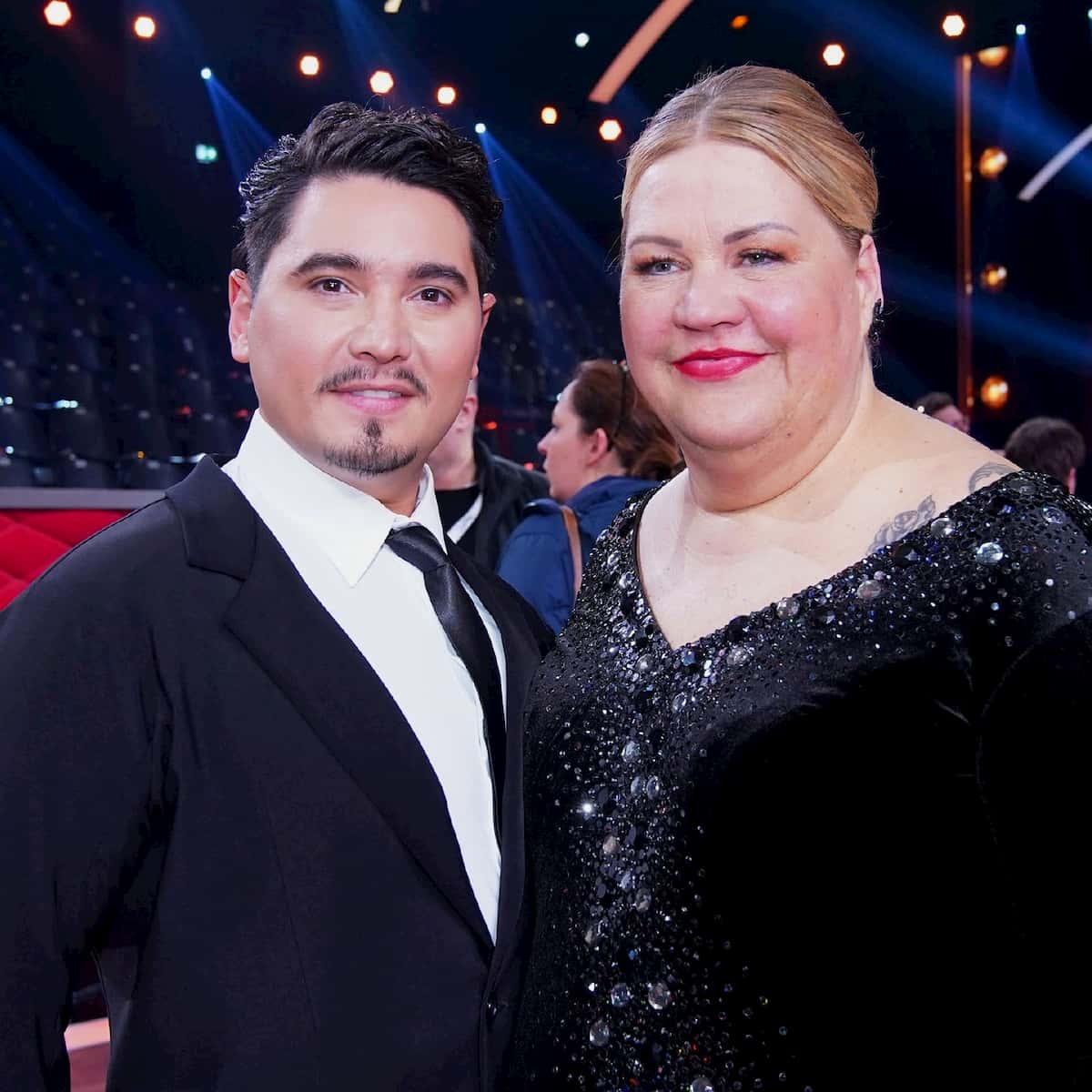 Ilka Bessin und Erich Klann als Tanzpaar bei Let's dance 2020