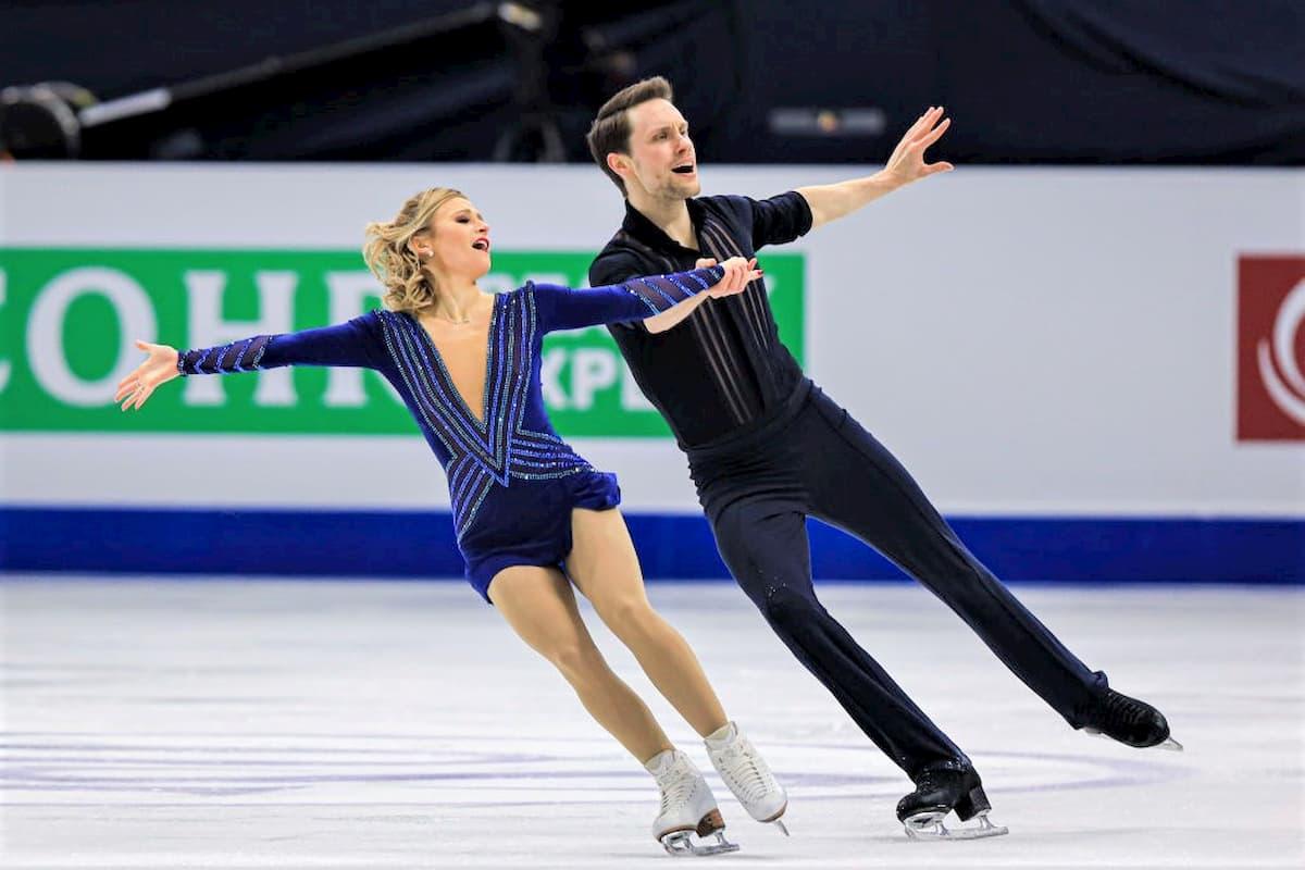 Kristen Moore-Towers - Michael Marinaro aus Kanada führen nach dem Kurzprogramm der Paare be den 4 Continents Championships 2020