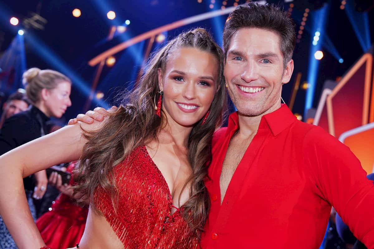 Laura Müller und Christian Polanc als Tanzpaar bei Let's dance 2020