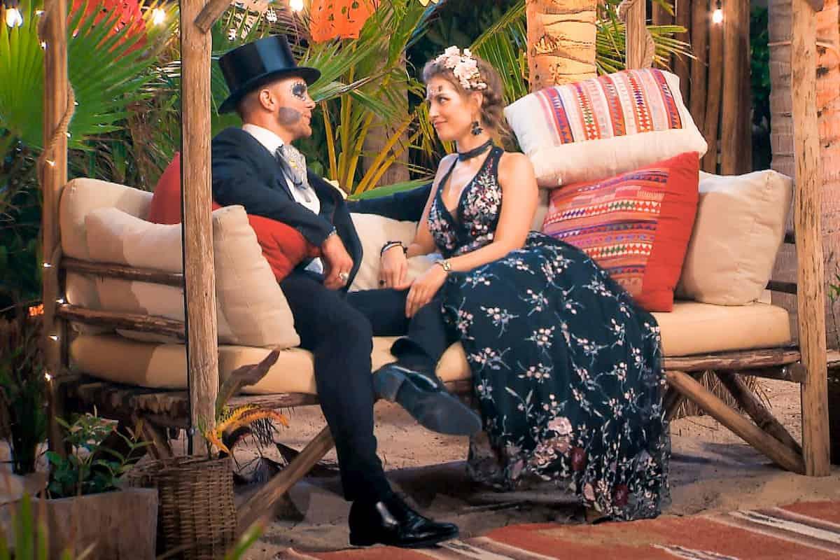 Sebastian und Wioleta verkleidet zum Totenfest in der Nacht der Rosen beim Bachelor am 12.2.2020