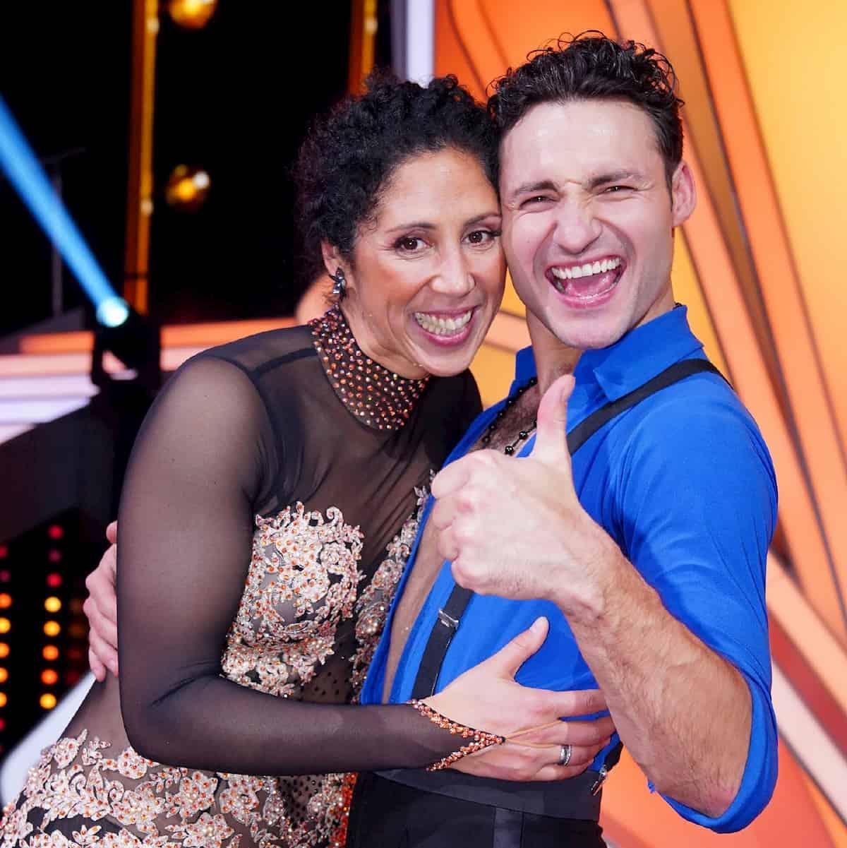 Steffi Jones - Robert Beitsch als Tanzpaar bei Let's dance 2020