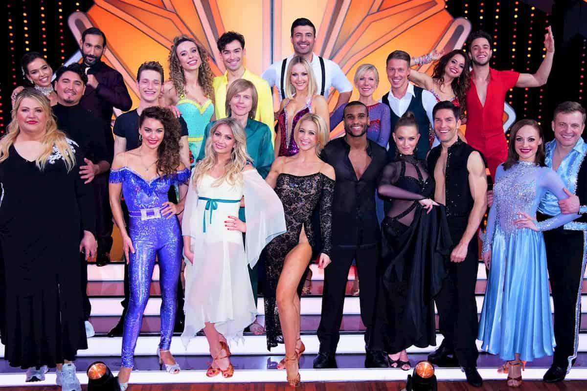 Alle Tanzpaare, die sich für Let's dance am 20.3.2020 qualifiziert haben