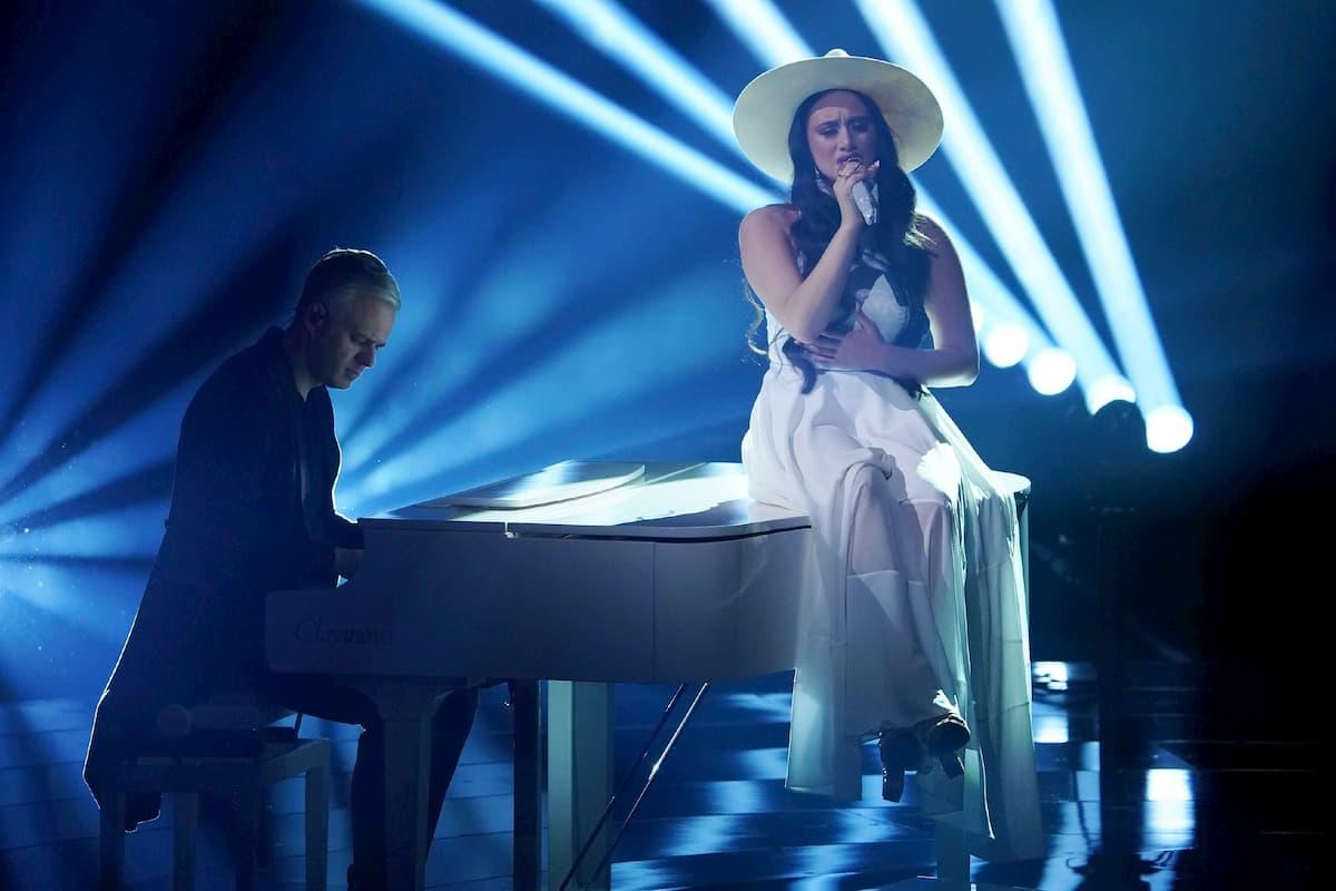 Chiara D'Amico mit Andre Franke am Klavier bei DSDS am 28.3.2020