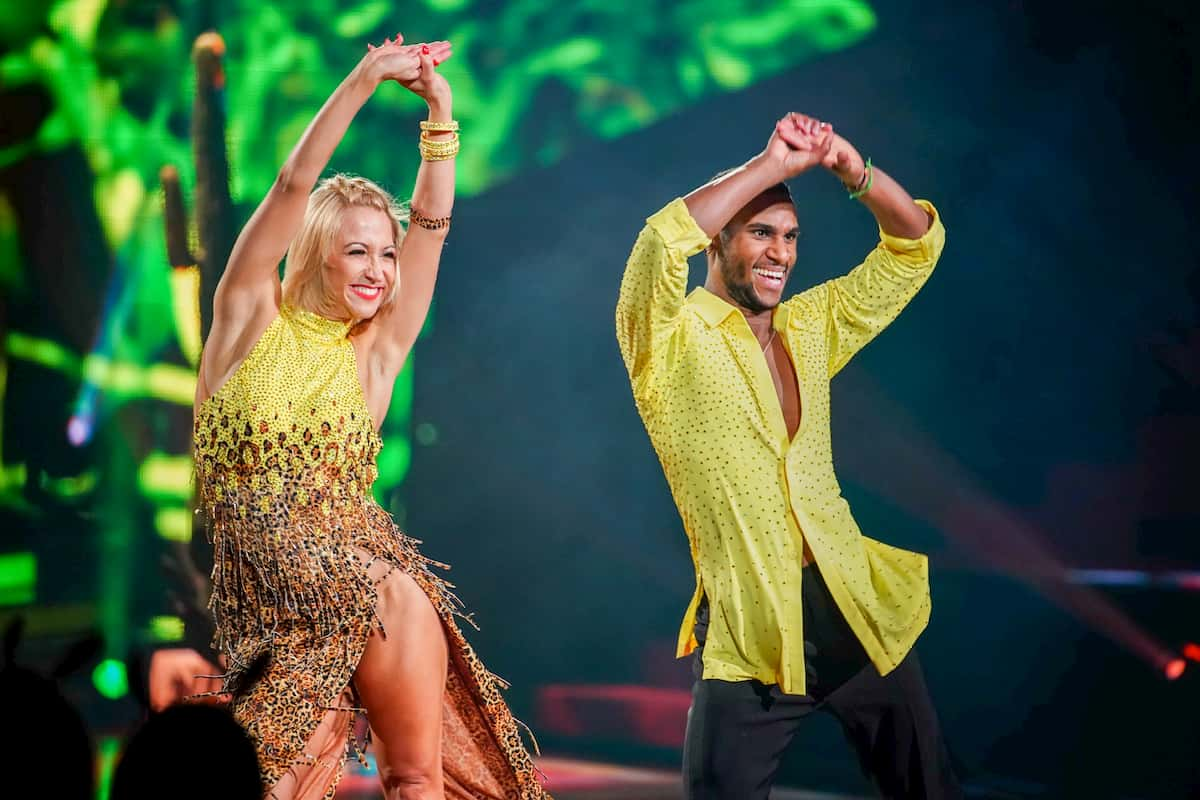 Kathrin Menzinger und Tijan Njie bei Let's dance am 27.3.2020