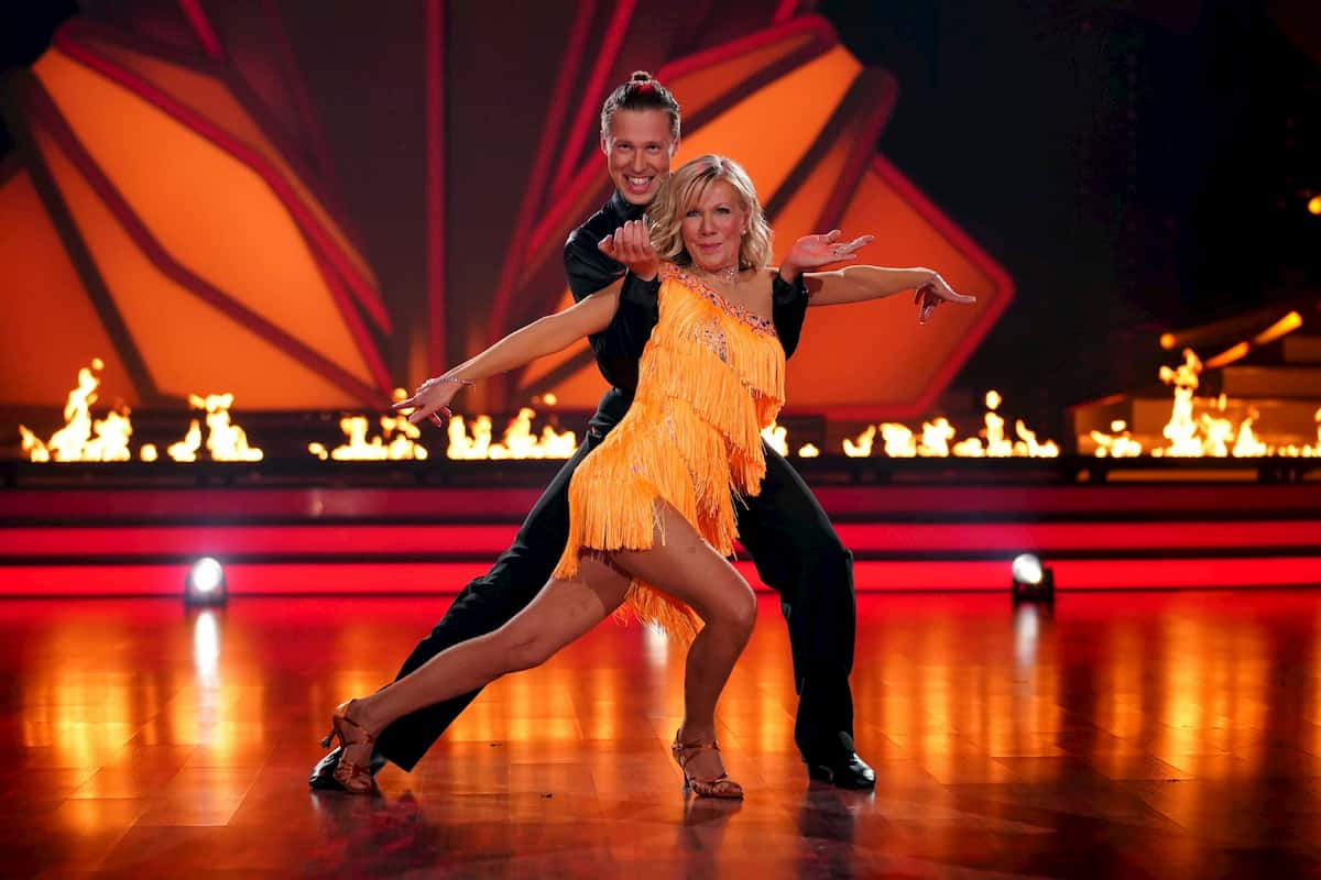 Ulrike von der Groeben und Valentin Lusin bei Let's dance am 20.3.2020