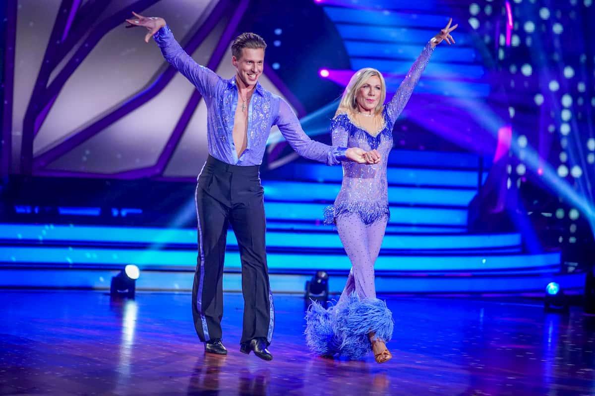 Ulrike von der Groeben und Valentin Lusin bei Let's dance am 27.3.2020