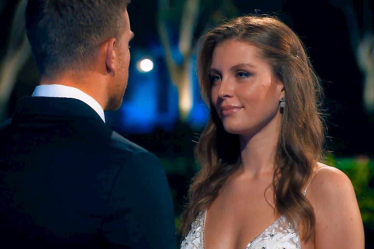 Wioleta und Sebastian im Moment der Entscheidung im Finale Bachelor am 4.3.2020