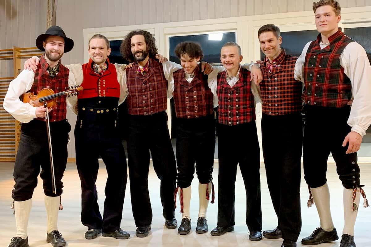 Llambis Tanz-Duell am 26.4.2020 - Massimo Sinato und Christian Polanc mit ihren Tanzlehrern in Norwegen