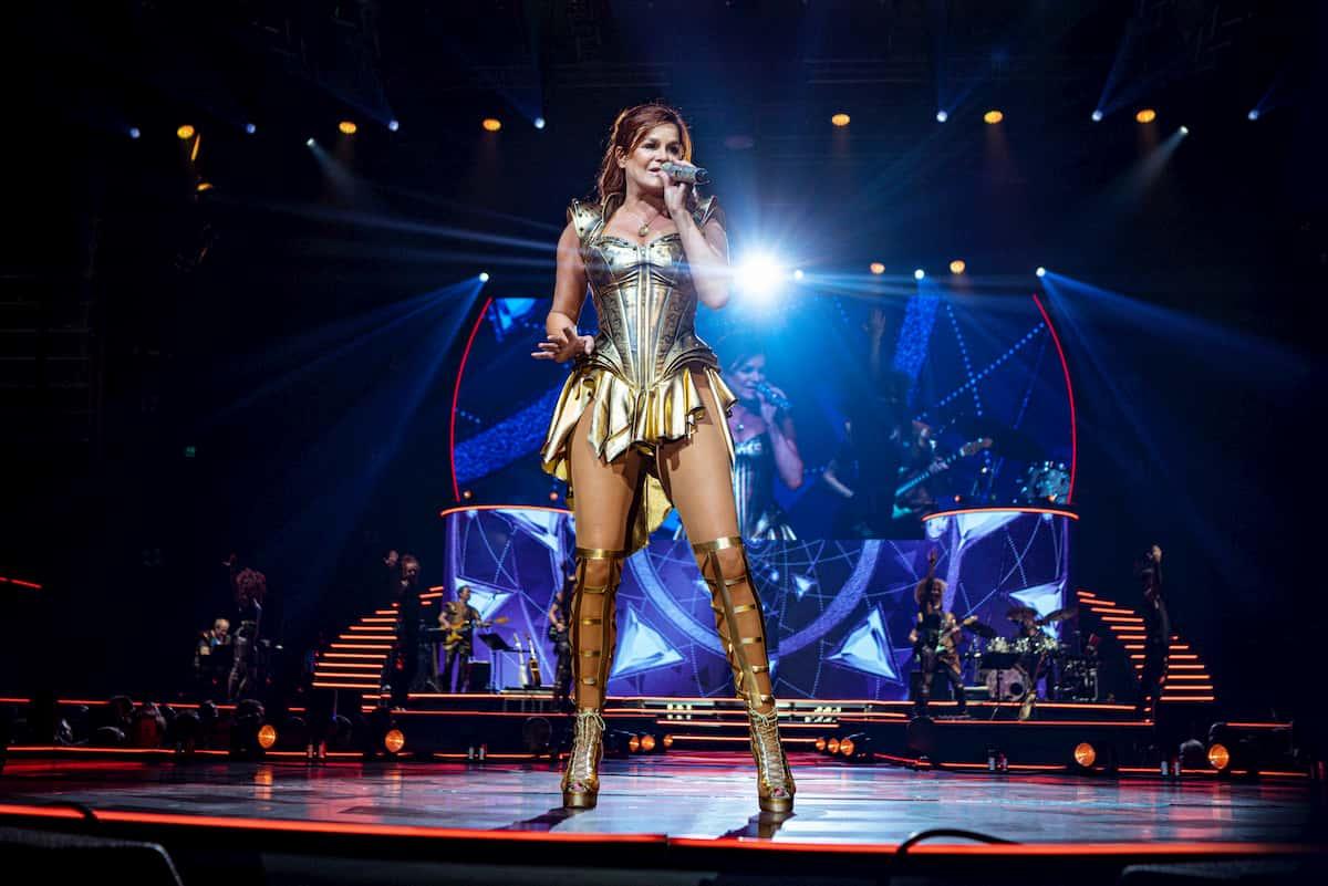 Andrea Berg 2020 live auf der Bühne ihrer Mosaik-Tour