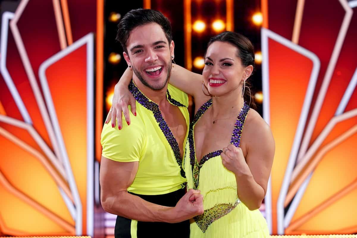 Christina Luft mit Luca Hänni bei Let's dance am 15.5.2020 weiter ins Finale gekommen