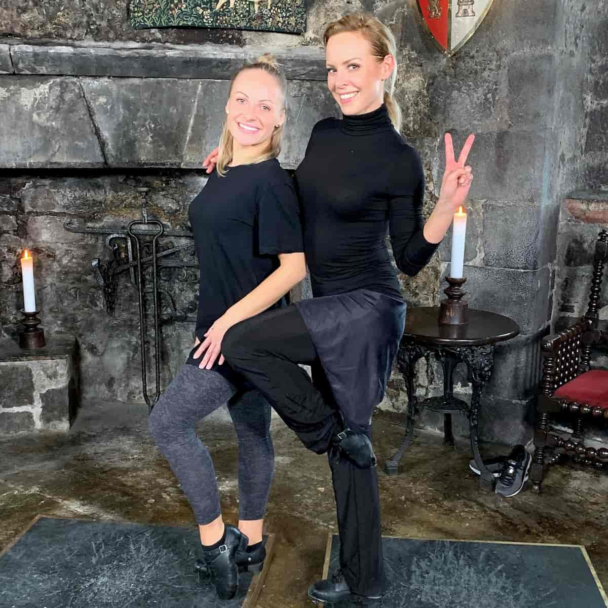 Marta Arndt und Isabel Edvardsson bei Llambis Tanz-Duell am 24.5.2020