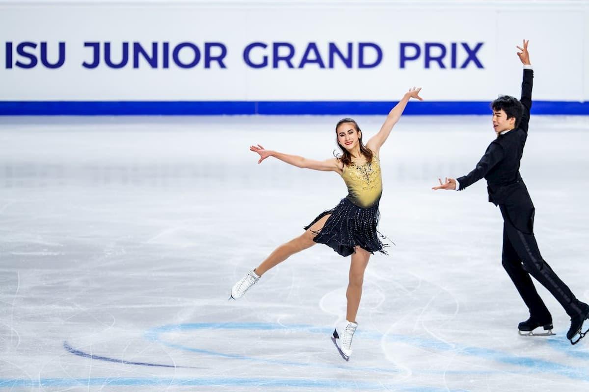 Eiskunstlauf ISU Junior Grand Prix 2020 endgültig abgesagt - hier im Bild das Eistanz-Paar Katarina Wolfkostin – Jeffrey Chen aus den USA