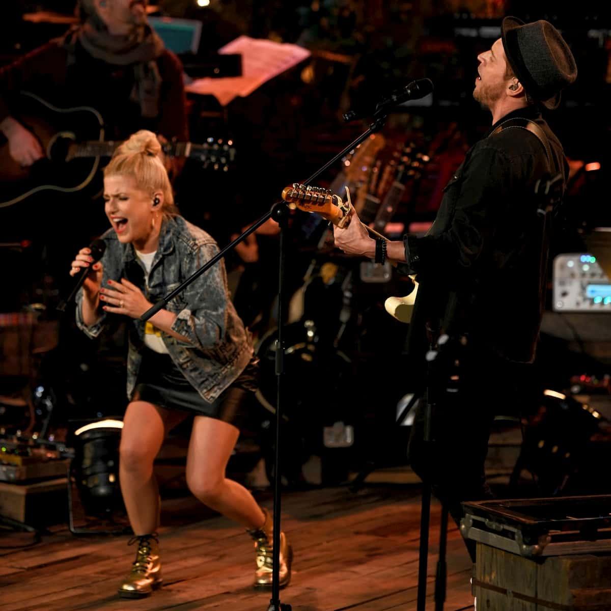 Jeanette Biedermann und Johannes Oerding bei Sing meinen Song am 14.7.2020