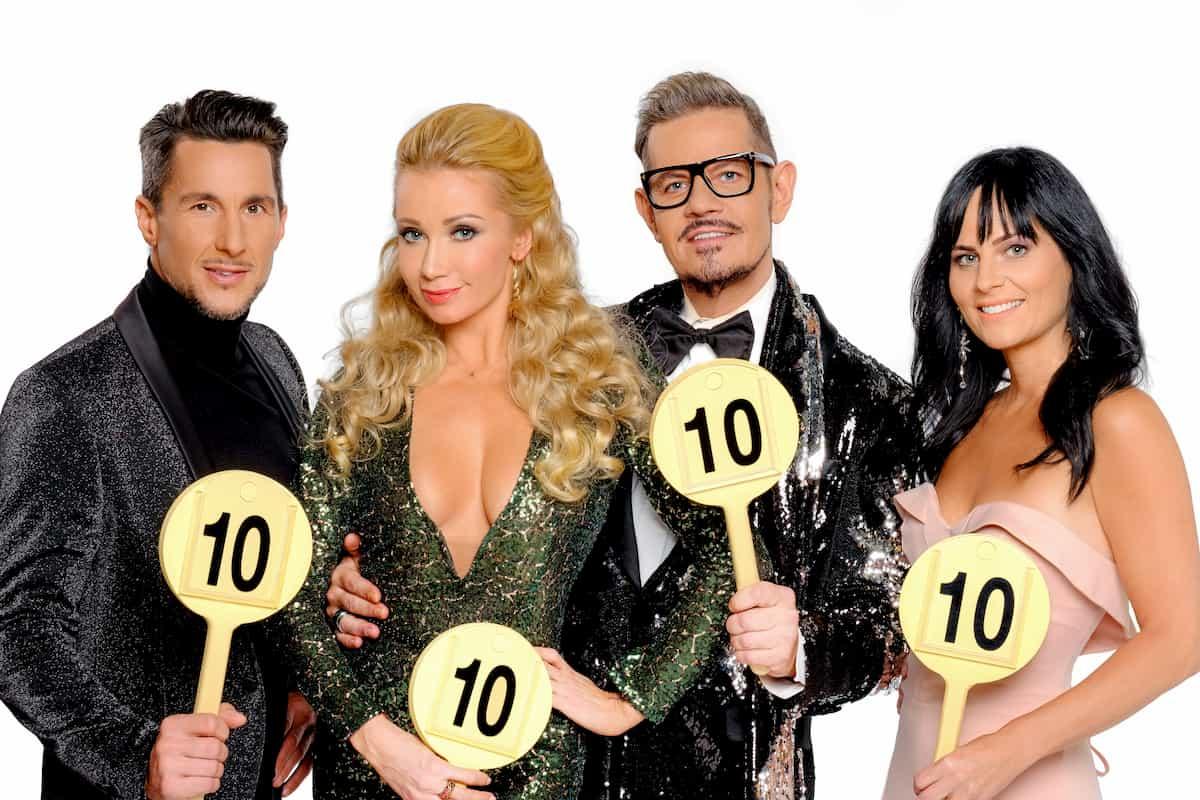Dancing Stars 2020 Nicole Hansen nächster Corona-Ausfall - hier im Bild die ursprüngliche Dancing Stars – Jury 2020 mit Balazs Ekker, Karina Sarkissova, Dirk Heidemann und Nicole Hansen
