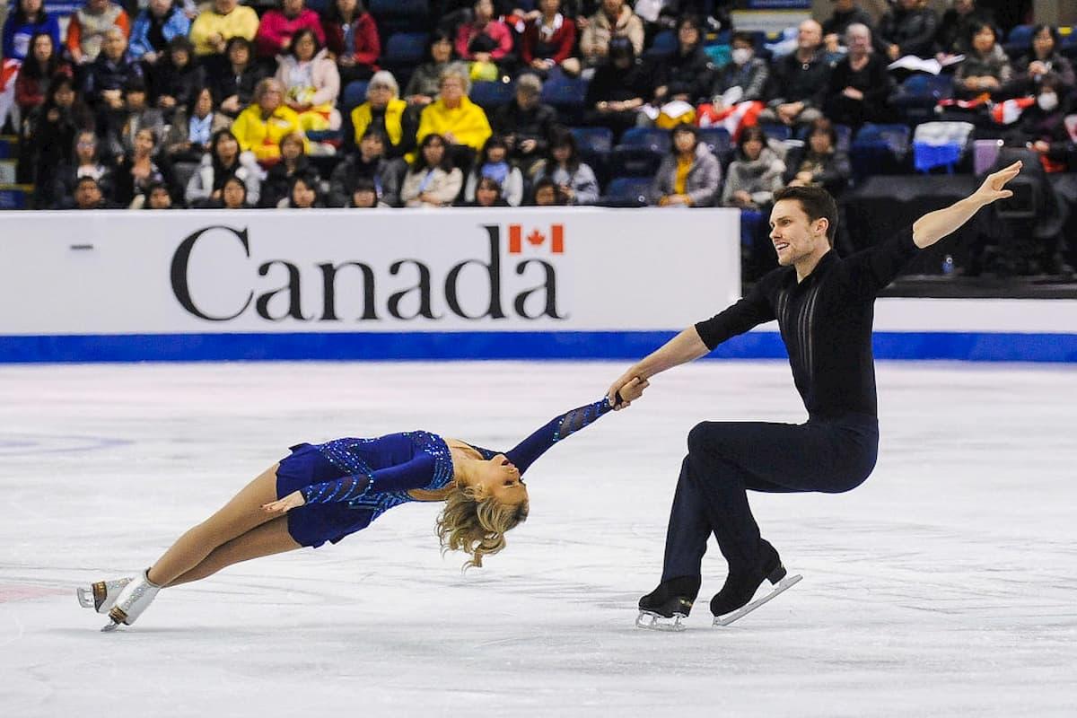 Eiskunstlauf ISU Grand Prix 2020 - hier im Bild Kirsten Moore-Towers - Michael Marinaro bei Skate Canada im letzten Jahr
