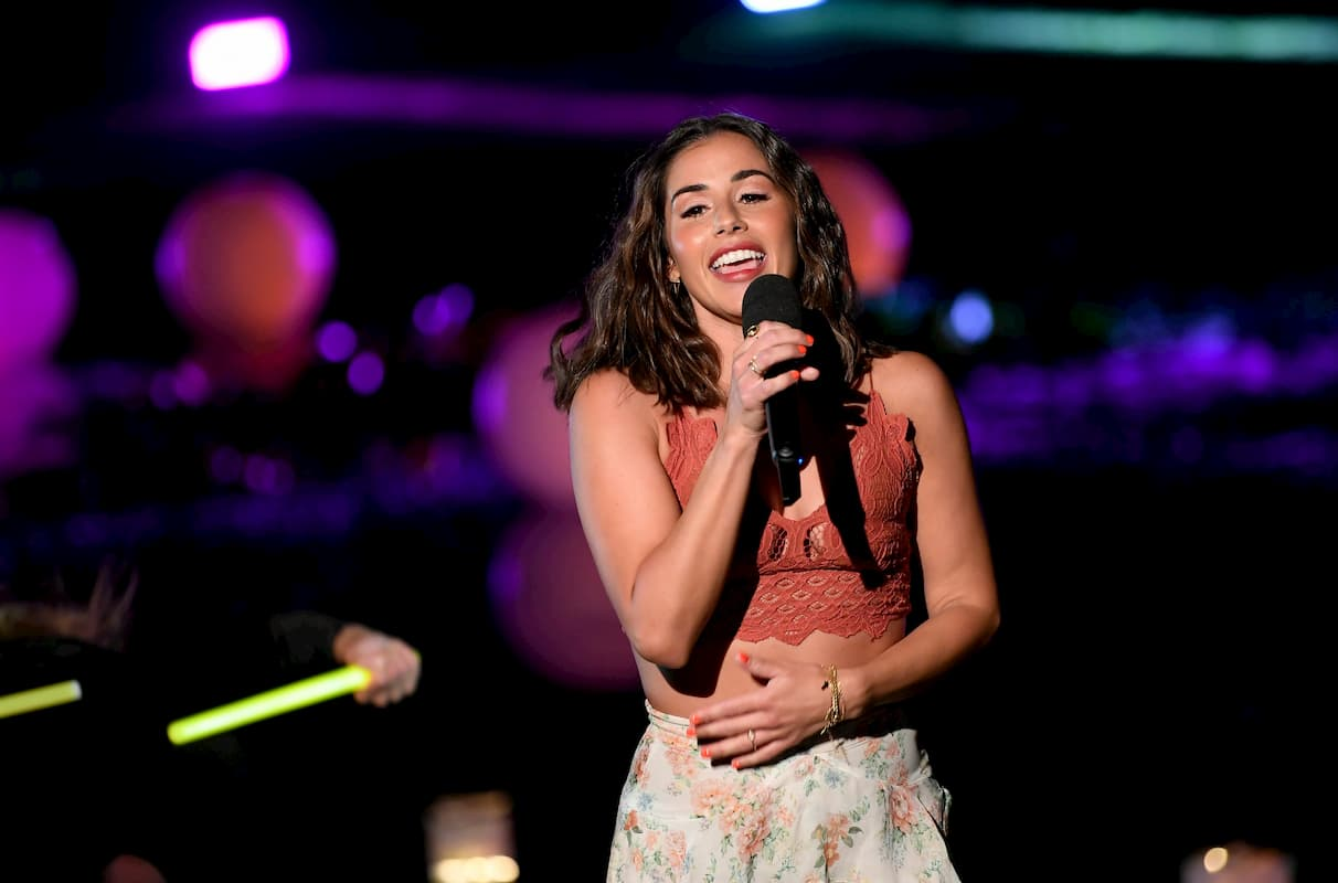 Sarah Lombardi bei Schlager des Sommers am 8.8.2020 im MDR